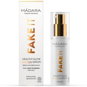 Samoopalające serum do twarzy Fake It Healthy Glow MÁDARA 30 ml