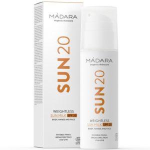 MADARA SUN20 Lekkie mleczko do opalania SPF 20 150 ml