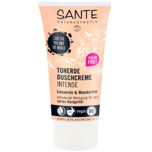 Mineralny krem myjący do ciała biała glinka z mandarynką Sante 150 ml