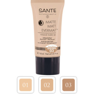 Mineralny podkład do twarzy Matte 03 Golden Sante 30 ml