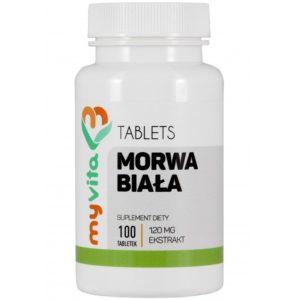 Morwa biała ekstrakt w tabletkach MyVita 100 sztuk