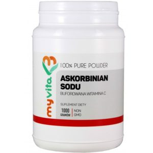 MyVita buforowana witamina C (Askorbinian sodu) w proszku 1000 g