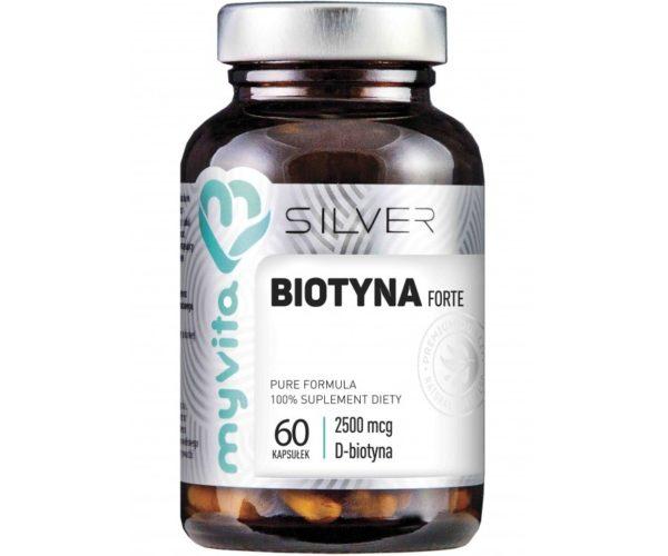 MyVita Silver Biotyna 2500 mcg 60 kapsułek