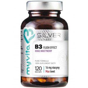 MyVita Silver kwas nikotynowy Niacyna (witamina B3) 16 mg 120 kapsułek