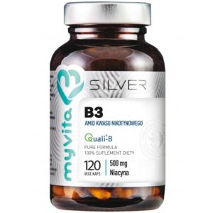 MyVita Silver Niacyna (witamina B3) Amid 500 mg 120 kapsułek