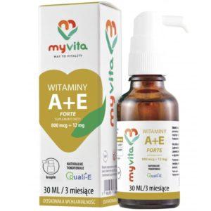 MyVita Witamina A + E Forte 30 ml | Krople naturalne