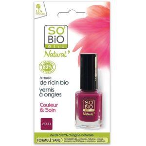 Naturalny lakier do paznokci 05 Violet SO BIO étic