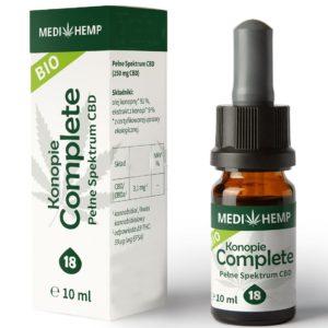 Naturalny olejek CBD/CBDa z ekstrakcji CO2 18% Medihemp Complete 10 ml Bio