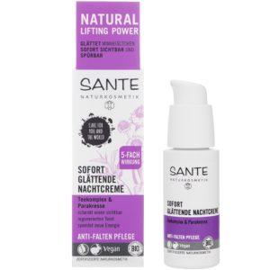Natychmiastowe wygładzenie zmarszczek podkład Sante Naturkosmetik 30 ml
