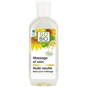 Neutralny olejek pielęgnacyjny do masażu SO BIO 100 ml