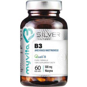 Niacyna (witamina B3) Amid 500 mg Silver MyVita 60 kaps