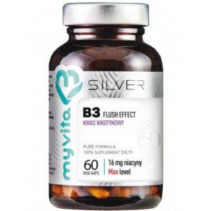 Niacyna (witamina B3) kwas nikotynowy 16 mg Silver MyVita 60 kapsułek