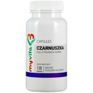 Olej z czarnuszki z polskich nasion Myvita 500 mg 120 kapsułek