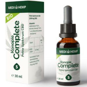 Olej z konopi CBD 5% z ekstrakcji CO2 MediHemp 30ml BIO
