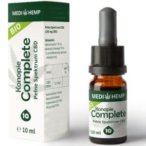 Olejek CBD 10% z konopi siewnej z ekstrakcji CO2 MediHemp 10ml BIO