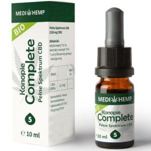 Olej z konopi siewnej CBD 5% z ekstrakcji CO2 MediHemp 10 ml BIO