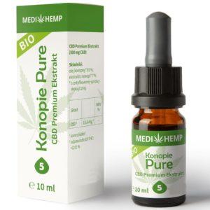 Olejek bio CBD 5% MediHemp 10 ml