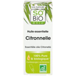 Olejek eteryczny Trawa cytrynowa Bio - przeciw komarom SO BIO 15 ml