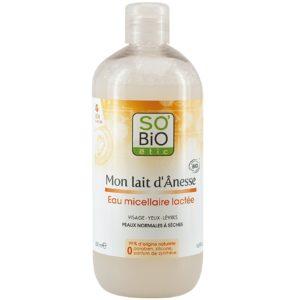Organiczna woda micelarna z oślim mlekiem So Bio 500 ml