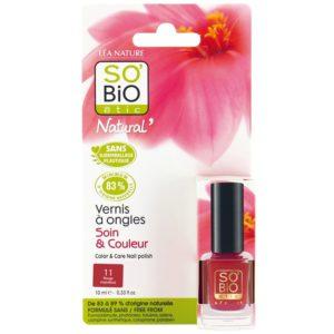 Organiczny lakier do paznokci 11 Rouge Coquelicot SO BIO étic 10 ml