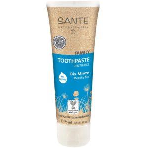 Naturalna pielęgnacja zębów | Pasta z miętą i fluorem FAMILY Sante 75 ml