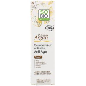 Przeciwzmarszczkowy krem pod oczy z olejkiem arganowym 5w1 So Bio 15 ml