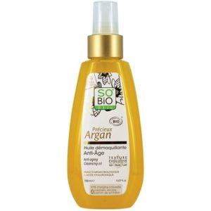 Przeciwzmarszczkowy olejek arganowy do mycia i demakijażu SO BIO 150 ml