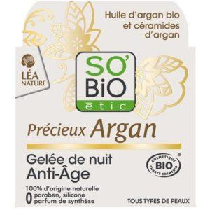 Przeciwzmarszczkowy żel na noc Olejek Arganowy So Bio 40 ml