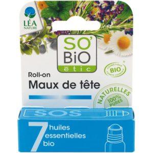 Roll-on na ból głowy 7 olejków eterycznych So BIO 5 ml