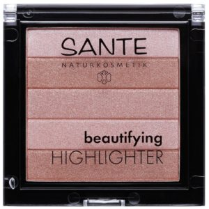 Rozświetlacz prasowany do twarzy 02 Rose Sante Naturkosmetik 7 g