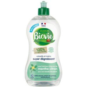Skoncentrowany płyn do naczyń z eko miętą i cytryną Biovie 500 ml