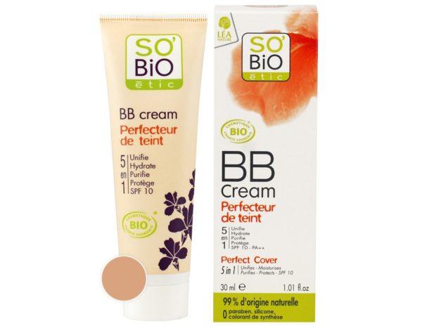 Organiczny krem BB 5 w 1 średni beż 02 SO BiO 30 ml