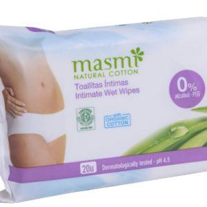 Wilgotne chusteczki do higieny intymnej Masmi 20 sztuk
