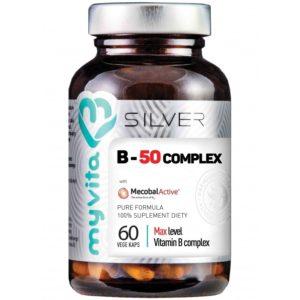 Witamina B50 Complex Silver MyVita 60 kaps.