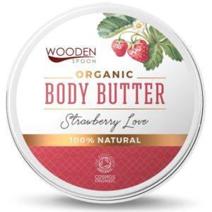 Wooden Spoon Strawberry Love | Organiczne masło do ciała 100 ml
