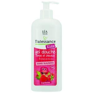 Żel do mycia ciała i włosów dla dzieci 2w1 Malina Natessance Kids 500 ml