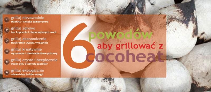CocoHeat brykiet z kokosa