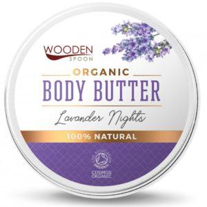 Organiczne masło do ciała Lavender Night Wooden Spoon 100 ml