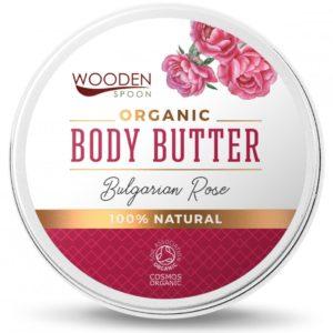 Wooden Spoon organiczne masło do ciała Bulgarian Rose 100 ml