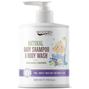 Wooden Spoon dla dzieci i niemowląt | Lawendowy płyn do ciała i włosów