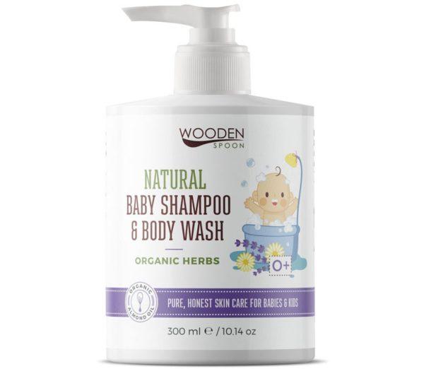 Wooden Spoon dla dzieci i niemowląt   Lawendowy płyn do ciała i włosów